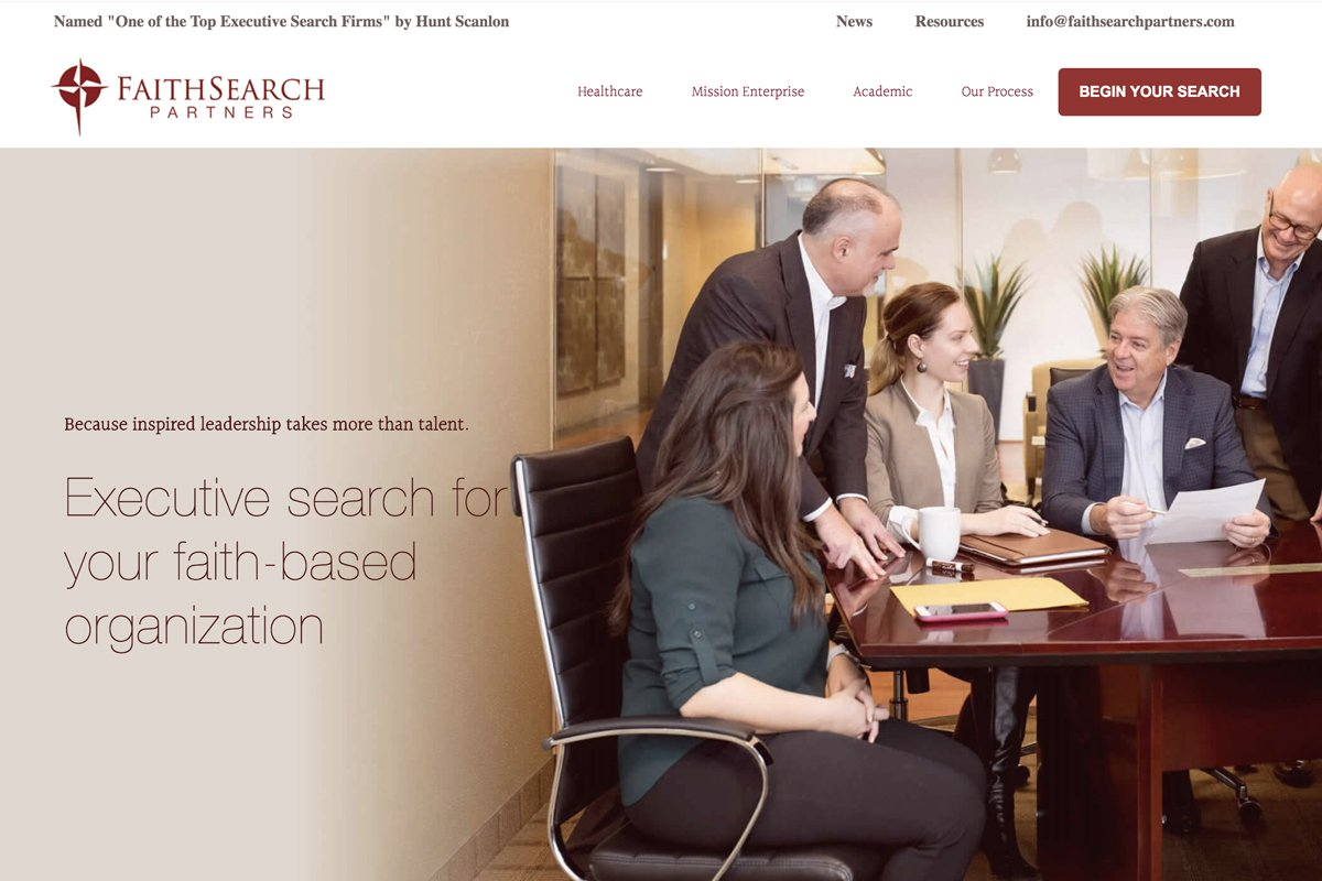 FaithSearch Partners old website